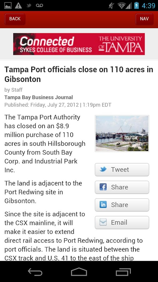 Tampa Bay Business Journal- screenshot