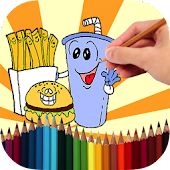 Coloring Book Funny Food