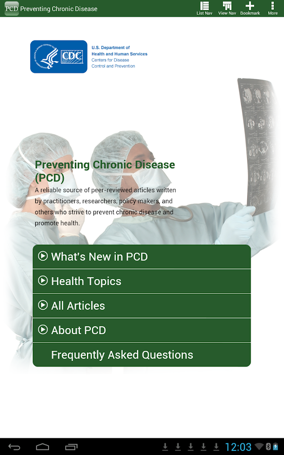 Preventing Chronic Disease-PCD - screenshot