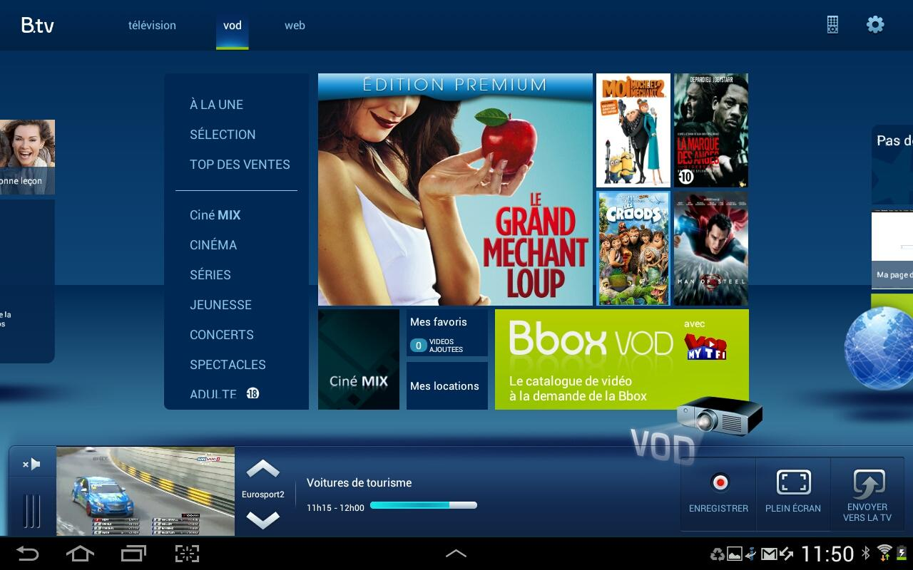 B.tv tablette - screenshot