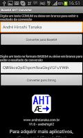 Screenshot of Base64 encoding AHT