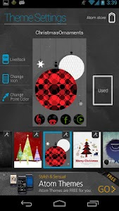 Christmas Ornaments Atom theme screenshot 2