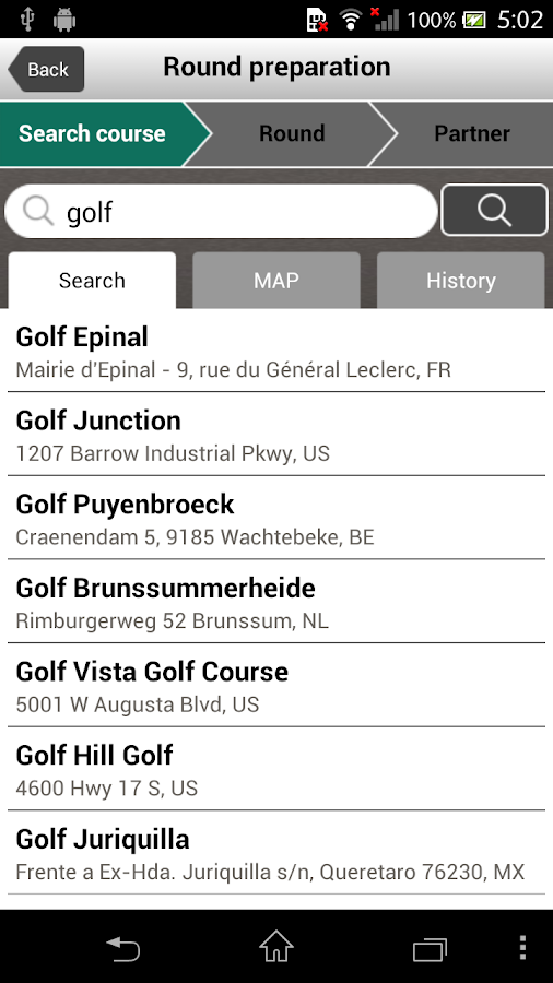 Scorecard - GOLF NETWORK PLUS - screenshot
