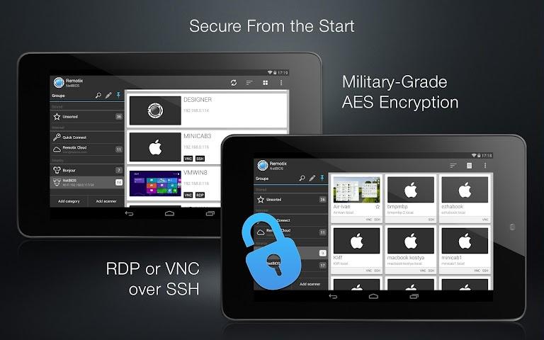android Remotix VNC RDP Remote Desktop Screenshot 4