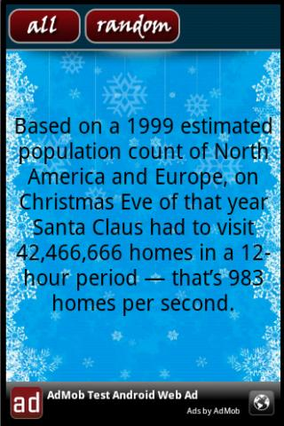 Christmas Facts - screenshot
