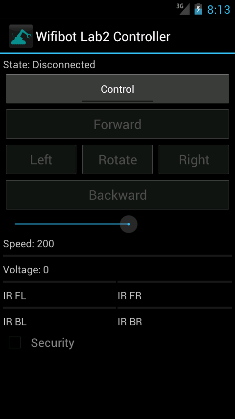Wifibot Controller- screenshot