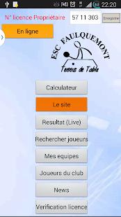 ESCF Tennis de table screenshot