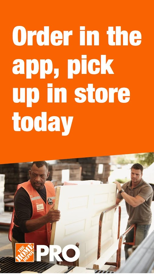 The Home Depot Pro App- screenshot