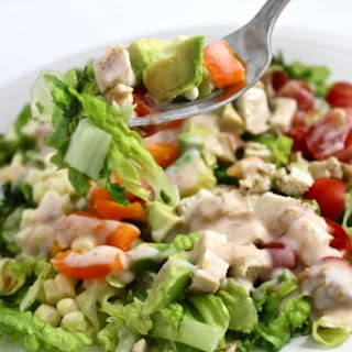 Southwest Chicken Salad with Skinny Salsa Ranch
