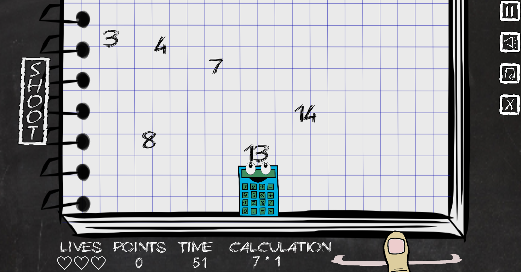 Game of Digits (DigitEater)- screenshot