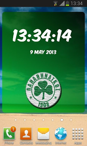 Digital Clock Panathinaikos