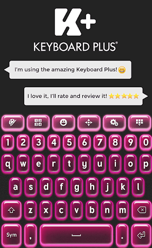 键盘加粉色霓虹灯