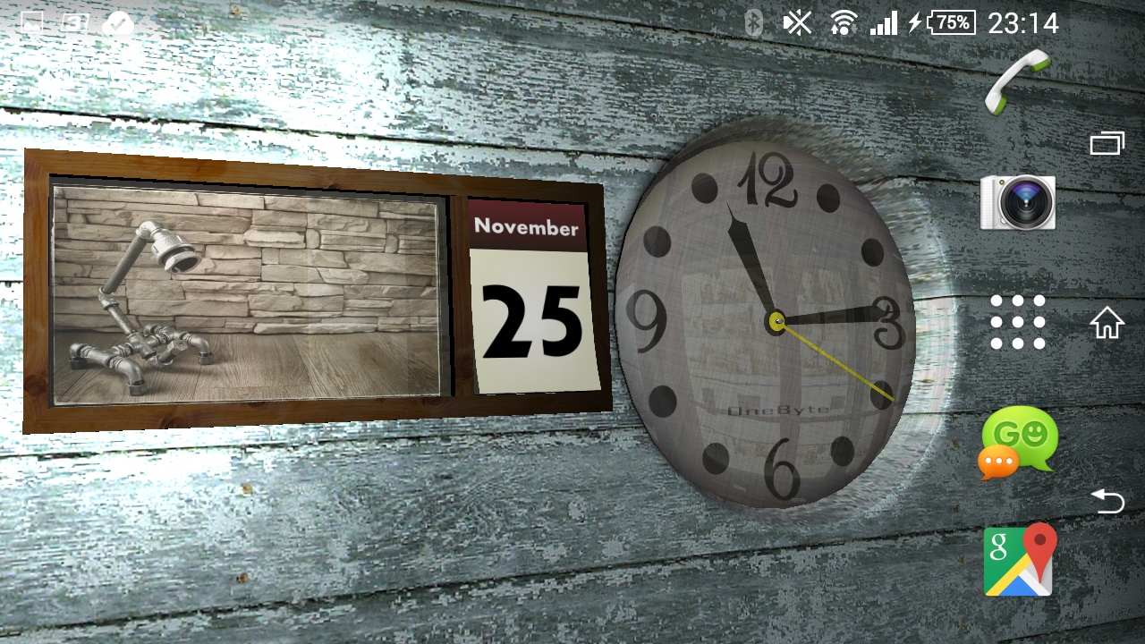 Calendar Wallpaper With Clock : Clock and calendar d android apps on google play