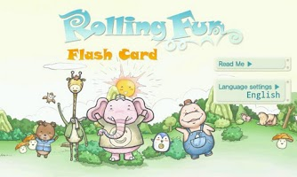 Screenshot of Rolling Fun Flash Card