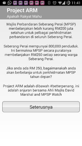 Projek ARM - Bajet MPSP