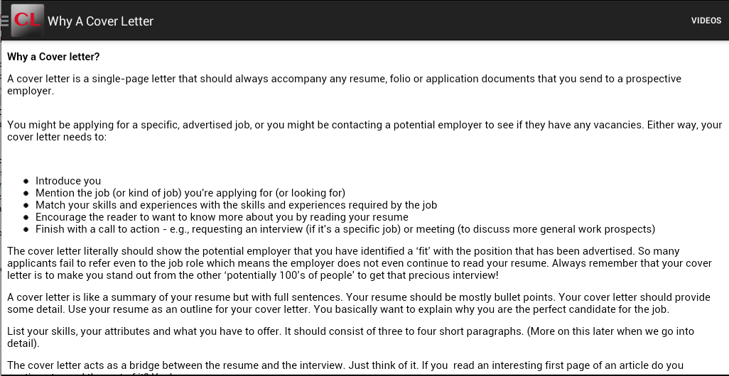 cover letter screenshot - What S A Cover Letter