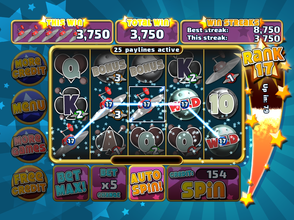 Astro Invaders Slots - screenshot