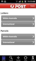Screenshot of Australia Post