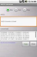 Screenshot of ASCII Converter