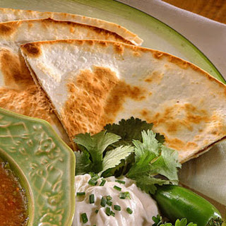 Refried Bean-and-Corn Quesadillas.