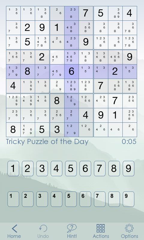 Sudoku Of The Day screenshot #2