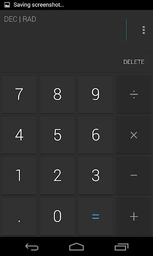 Calculator Holo Dark Theme