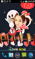 Screenshot of Beauty Stickers Live Wallpaper