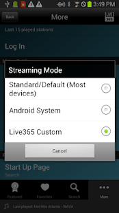 Live365 Radio- screenshot thumbnail