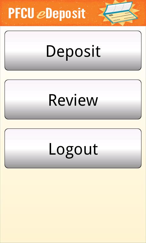 PFCU eDeposit - screenshot