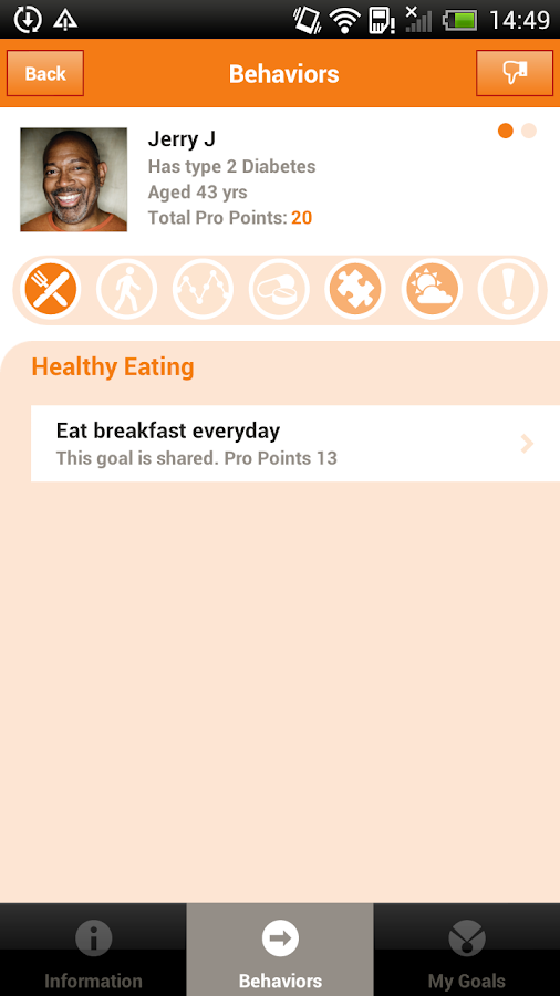 AADE Diabetes Goal Tracker - screenshot