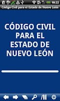 Screenshot of Civil Code Nuevo León State