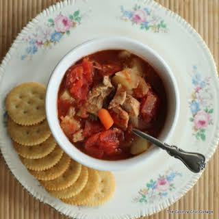 Crock Pot Pork Stew.