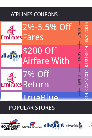 Airline Coupons