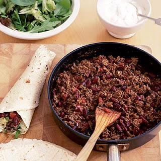 DIY Mexican chilli wraps.