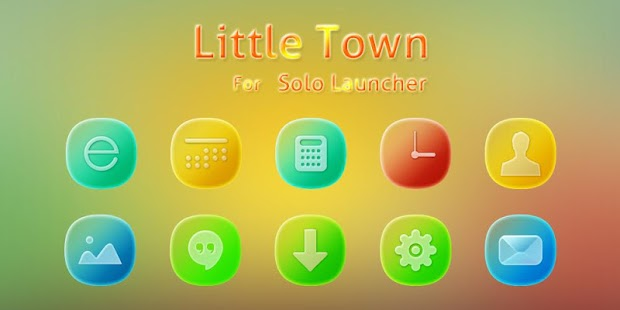 Little Town Icons Wallpapers