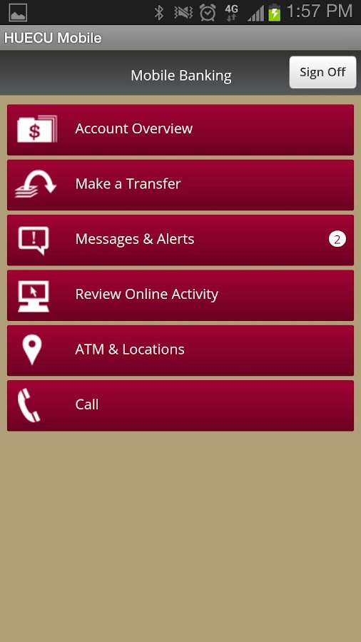 HUECU Mobile Banking - screenshot