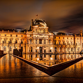 The Louvre by Steve Densley - Buildings & Architecture Public & Historical ( paris, hdr, long exposure, night, museum, palace, nightscape,  )