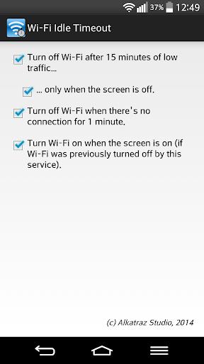 Wi-Fi Idle Timeout