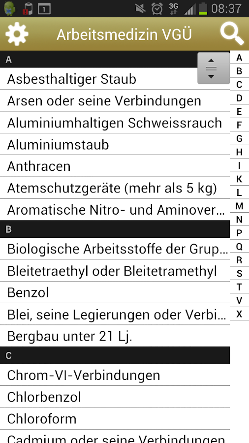 Arbeitsmedizin VGÜ - screenshot