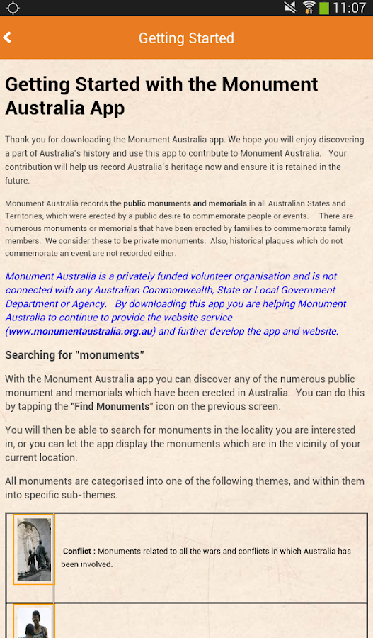 Monument Australia- screenshot