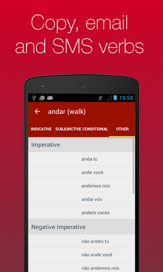 Portuguese Verb Conjugator- screenshot
