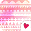 Cute wallpaper★geometric pink icon