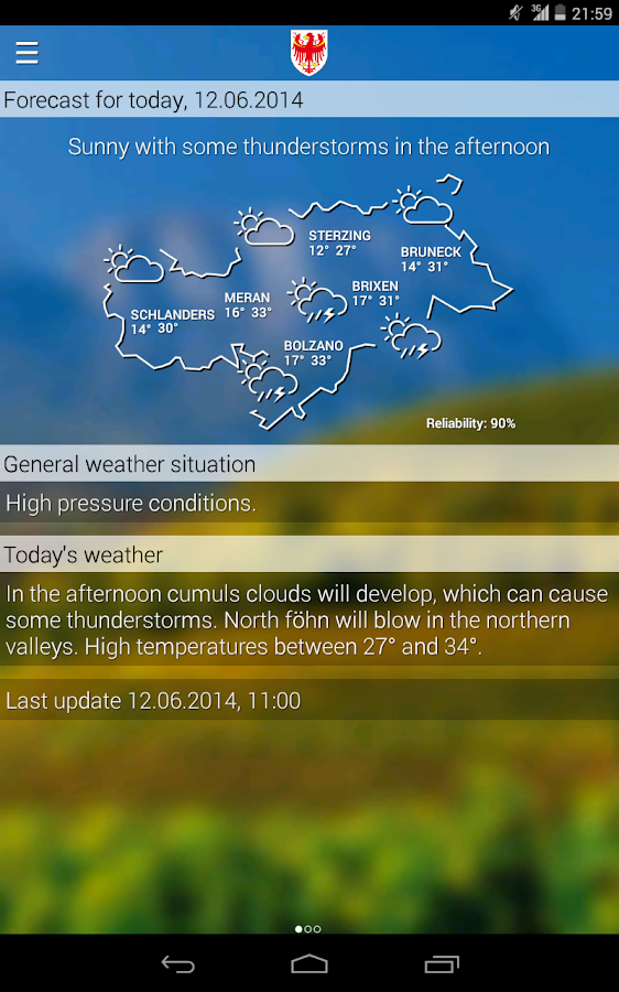 Weather South Tyrol- screenshot