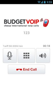 BudgetVoip - Cheapest Calls - screenshot thumbnail