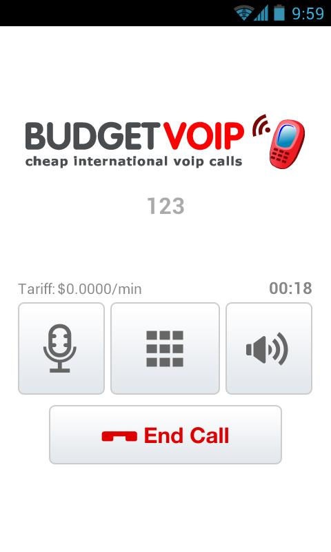 BudgetVoip - Cheapest Calls - screenshot