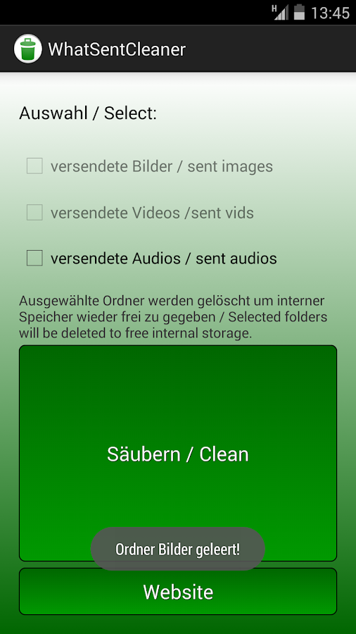 WhatSentCleaner- screenshot