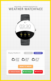 Weather Watch Face for Wear- screenshot thumbnail