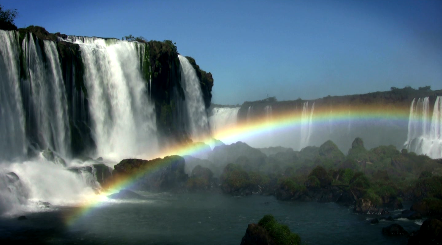 Waterfall & Rainbow Wallpaper- screenshot