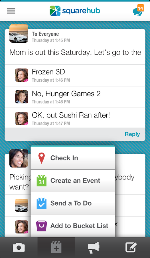 Family Sharing & Planning- screenshot
