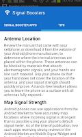 Screenshot of Signal Boosters
